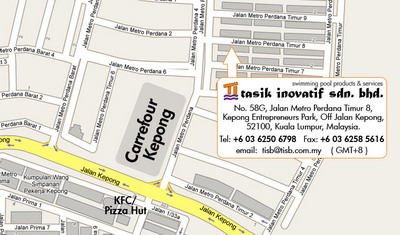malaysia swimming pool services and products company - tasik  inovatif sdn. bhd. location map